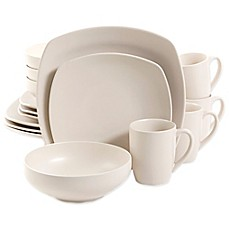 Gibson Home Paradiso 16-Piece Dinnerware Set in Linen
