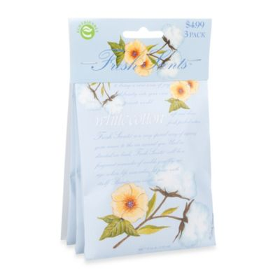 Fresh Scents™ Scent Packets in White Cotton (Set of 3)