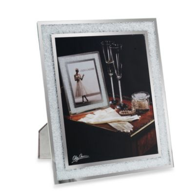 Oleg Cassini Crystal Diamond Collection 8-Inch x 10-Inch Picture Frame