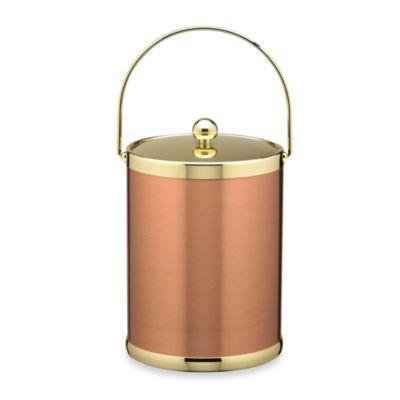 Kraftware™ Americano Copper & Brass 5-Quart Ice Bucket with Metal Bale Handle
