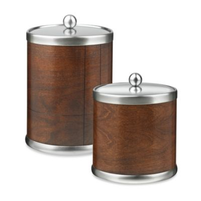 Kraftware American Artisan Ice Bucket in Walnut Hardwood Veneer