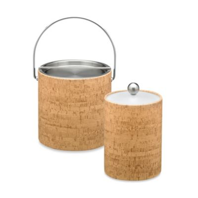 Cork 2-Quart Tall Ice Bucket in Natural