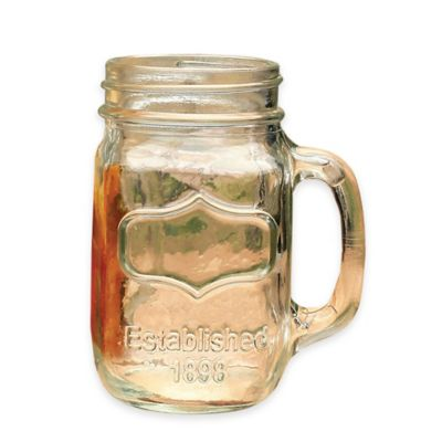 Glass Mason Jar Mugs (Set of 4)