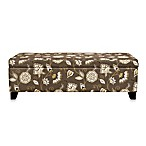 angelo:HOME Kent Storage Bench in Vintage Cocoa Brown Floral