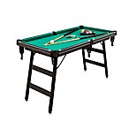 Hot Shot Space-Saving 5-Foot Billiard Table Set