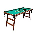 Home Styles Real Shooter Space-Saving 6-Foot Billiard Table Set in Cherry Finish