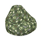 Large Print Skate Camo Bean Bag