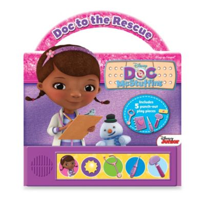 Doc McStuffins Doc to the Rescue Play-a-Sound Little Handle Board Book