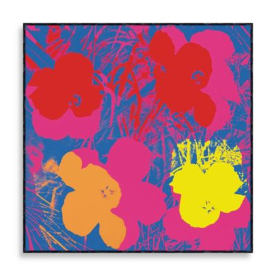 """Andy Warhol """"Flowers 1970"""" Wall Art in Red, Yellow and Orange"""