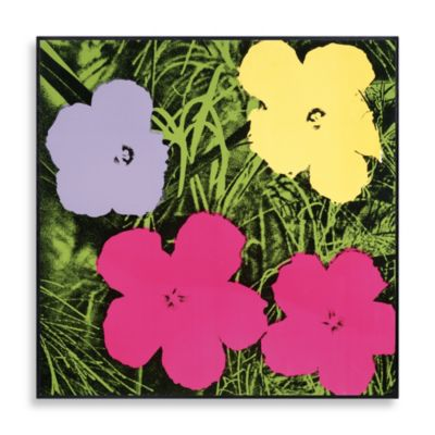 """Andy Warhol """"Flowers, 1970"""" Wall Art in Purple, Yellow and Pink"""