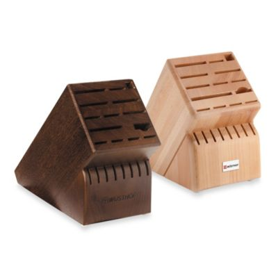 Wusthof® 22-Slot Wood Knife Block in Walnut