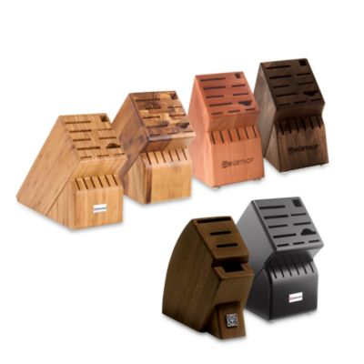 Wusthof® 17-Slot Cherry Wood Knife Block