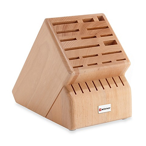 Buy Wusthof® 25-Slot Wood Knife Block from Bed Bath & Beyond