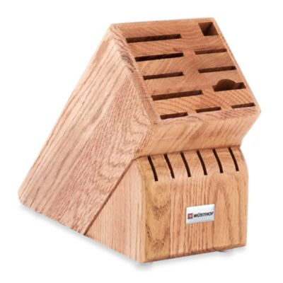 Wusthof® 17-Slot Oak Wood Knife Block