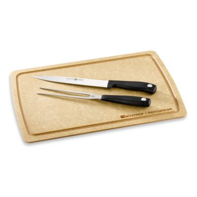 Wusthof® Silverpoint II 3-Piece Carving Set with Cutting Board