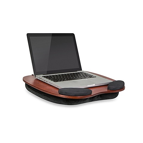 The Smart Media Desk Wooden Lap Desk With Media Slot