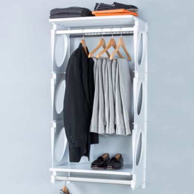 KiO 2-Foot Closet and Shelving Kit in Frost