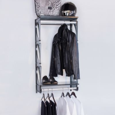 KiO 2-Foot Closet and Shelving Kit in Black