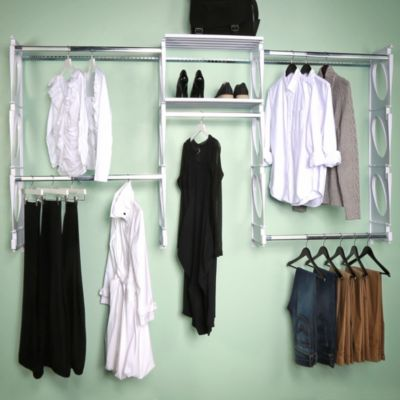 KiO 8-Foot Closet and Shelving Kit in White