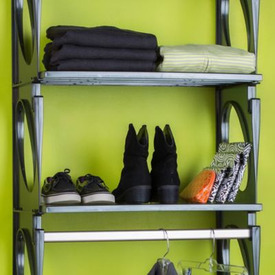 Black Closets Shelves