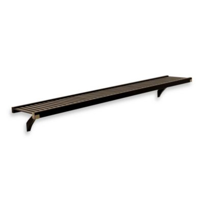 John Louis Home Woodcrest 12-Inch Shelf Kit in Espresso