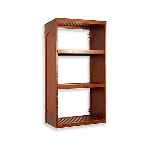 buy wood closet shelving from bed bath beyond. Black Bedroom Furniture Sets. Home Design Ideas