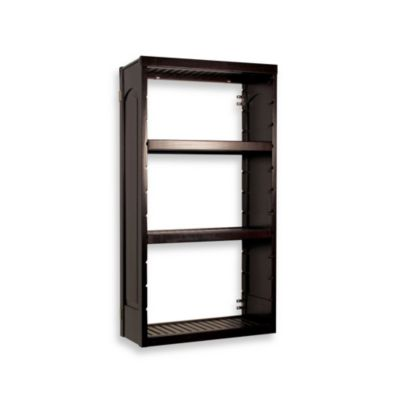 John Louis Home Woodcrest Stand Alone 16-Inch Tower Kit in Espresso