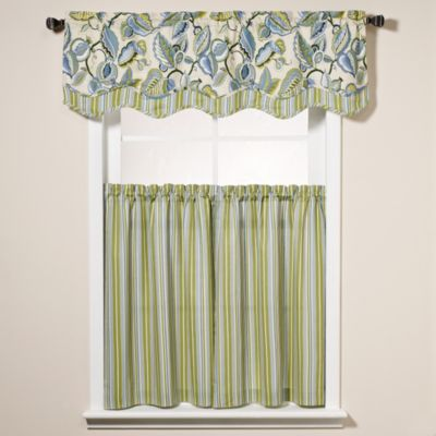 Fantasy Fleur Scalloped Window Curtain Valance