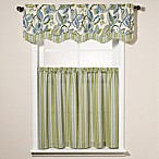 Fantasy Fleur Window Curtain Tier Pairs and Scalloped Valance
