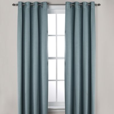 Ashton 108-Inch Grommet Window Curtain Panel in Blue