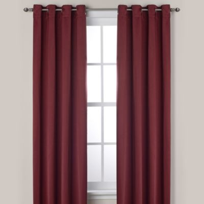 Ashton 108-Inch Grommet Window Curtain Panel in Wine
