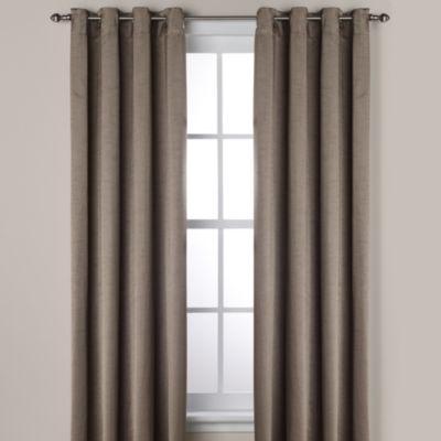 Ashton 108-Inch Grommet Window Curtain Panel in Smoke