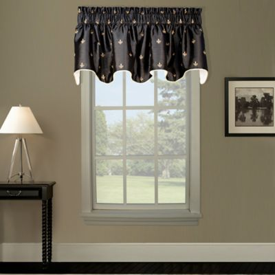 Duchess Lined Scallop Valance in Black