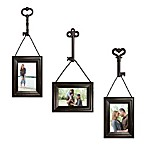Wall Solutions 6-Piece Frame and Key Set in Distressed Black