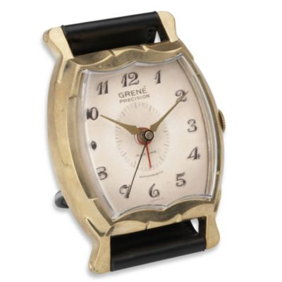 Uttermost Grene Square Wristwatch Alarm Clock