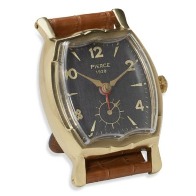 Uttermost Pierce Square Wristwatch Alarm Clock