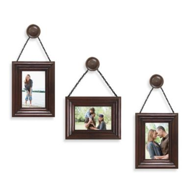 Wall Solution 6-Piece Knob Frame Set in Walnut