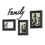 Wall Solutions 4-Piece Family Picture Frame Set in Black