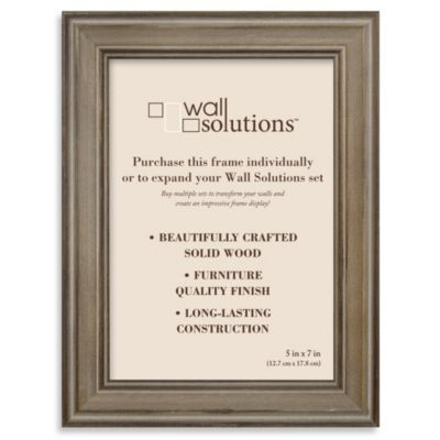 Wall Solution 5-Inch x 7-Inch Frame Set in Distressed Brown
