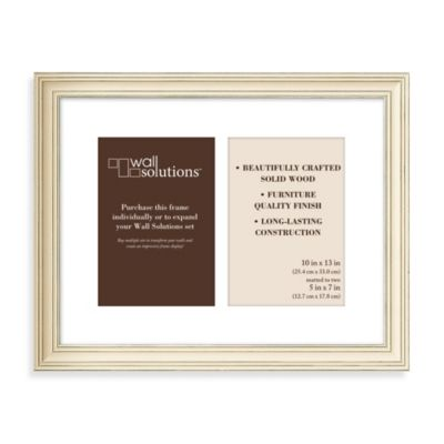 Wall Solution 2-Opening 5-Inch x 7-Inch Frame in Distressed Cream