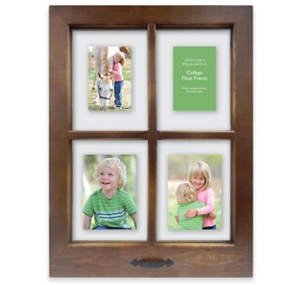 Windowpane 4-Opening 18.5-Inch x 25-Inch Collage Frame in Walnut