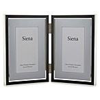 Siena Hinged Two-Opening Narrow Frame in Black