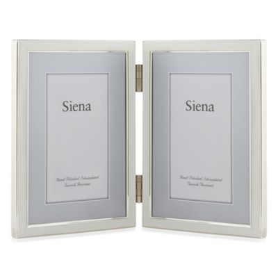 Siena Hinged Two-Opening Narrow Frame in White