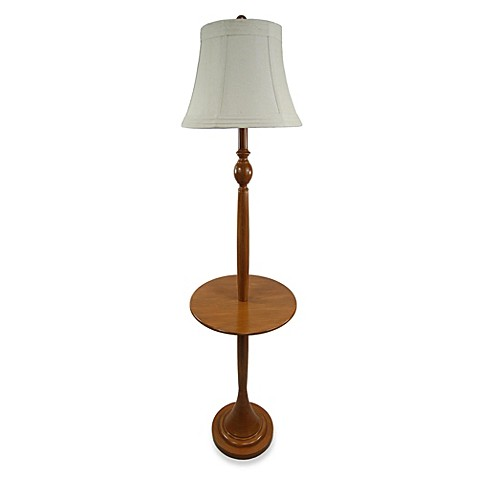 wood tray floor lamp in maple bed bath beyond. Black Bedroom Furniture Sets. Home Design Ideas