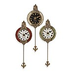Uttermost Monarch Wall Clock (Set of 3)