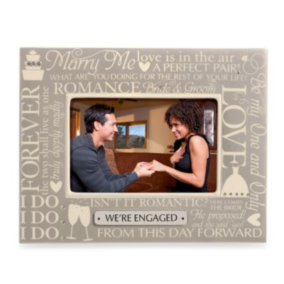 Wedding Engagement 4-Inch x 6-Inch Sentiment Frame