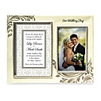 Our Wedding Day Ceramic Double Wedding Frame