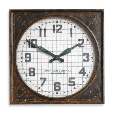 Uttermost Warehouse Grill Cover Wall Clock