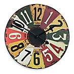 Uttermost Vintage License Plates 28.87-Inch Wall Clock