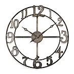 Uttermost Delevan 32-Inch Metal Wall Clock
